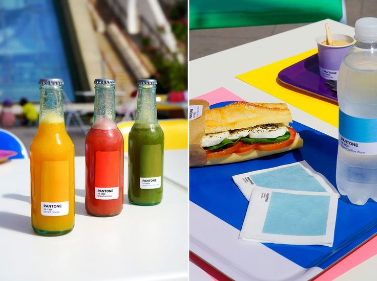 The seasonal pop-up serves a simple but bold color-coded menu