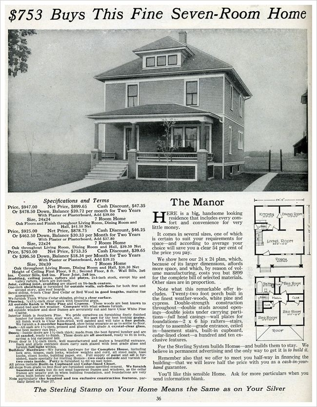 The Manor 1916 House Plans Pinterest