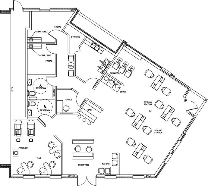 11 Best Business Salon Floor Plans Images On Pinterest