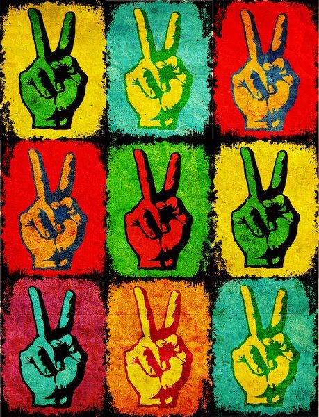 American Hippie Psychedelic Art Quotes Peace Sign