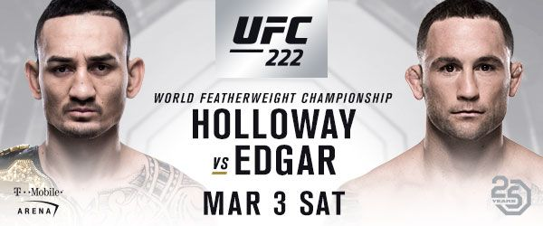 FEATURED BOUTS INCLUDE: (#10) STEFAN STRUVE vs. (#12) ANDREI ARLOVSKI (#6) CAT ZINGANO vs. (#6) KETLEN VIEIRA TICKETS FORUFC® 222: HOLLOWAY vs. EDGAR AT T-MOBILE ARENA GO ON SALE FRIDAY, JANUARY 19