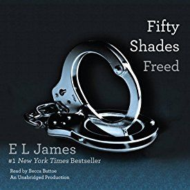 "Another must-listen from my #AudibleApp: ""Fifty Shades Freed: Book Three of the Fifty Shades Trilogy"" by E. L. James, narrated by Becca Battoe."