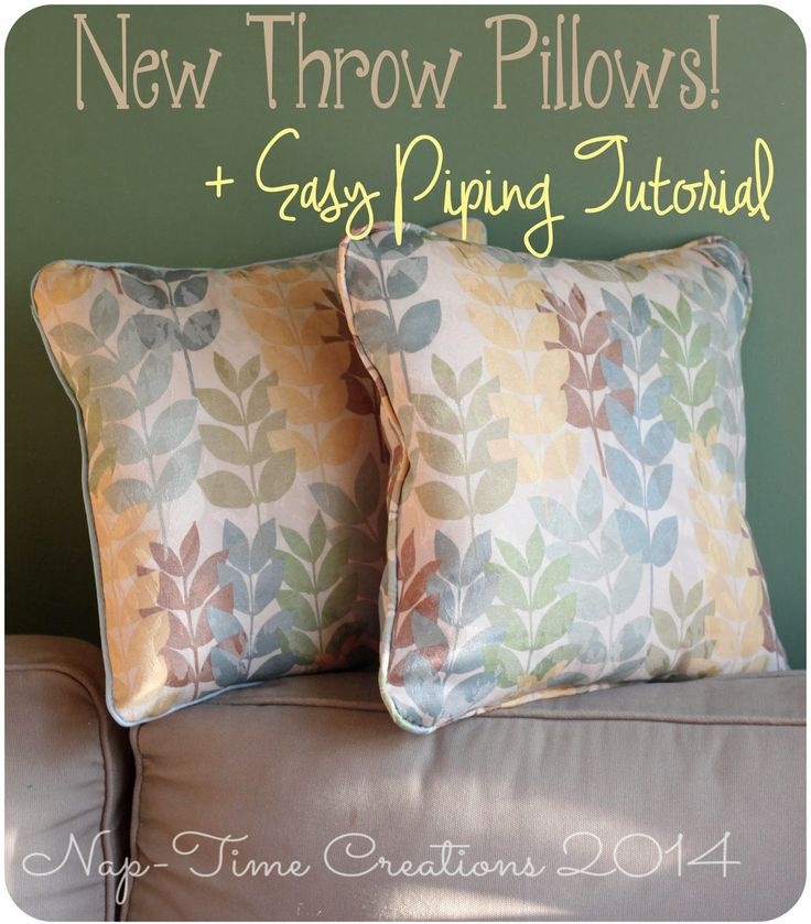 How To Make A Throw Pillow With Piping : Sewing a Throw Pillow with Piping {Tutorial House, Inspirational and Tutorials
