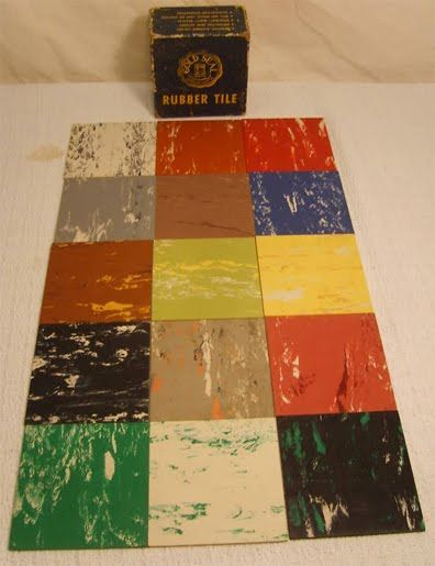 1950's Atomic Ranch House: 1950's Linoelum Tiles...like in-laws had in laundry room
