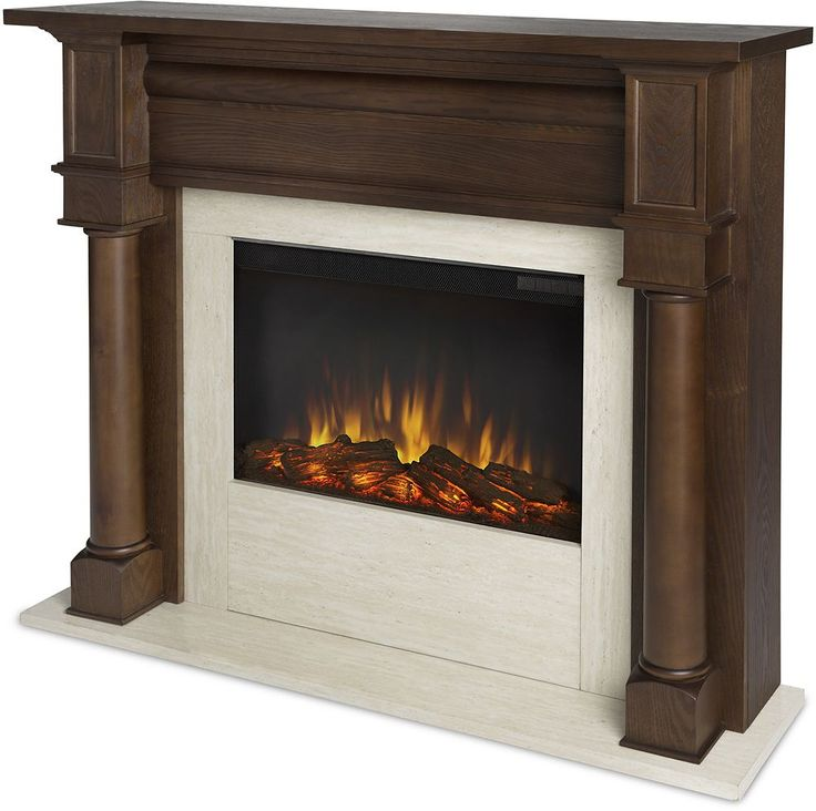 Real Flame - Berkeley Electric Fireplace - Chestnut Oak, 7810E-CO