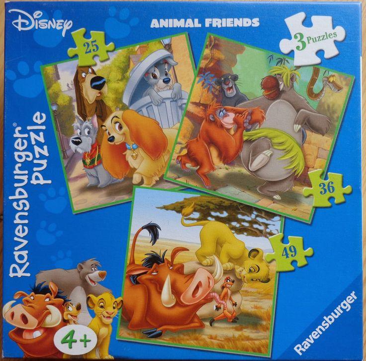 Three Disney Animal Friends jigsaw puzzles