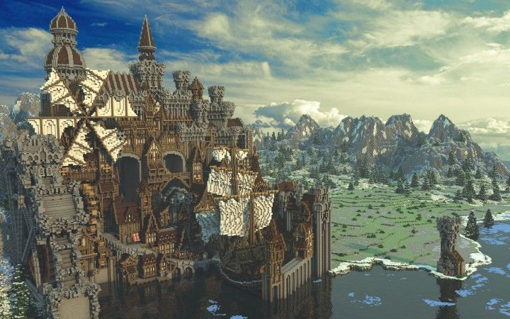 Conderial  Steampunk City Amazing Minecraft building ideas download save old worldpainter worldedit 2