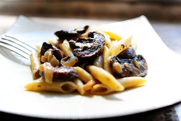 Pasta with Whiskey, Wine, and Mushrooms | Recipe