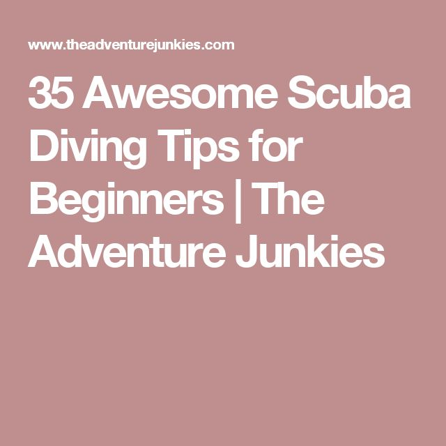35 Awesome Scuba Diving Tips for Beginners | The Adventure Junkies http://www.deepbluediving.org/recreational-vs-technical-diving/