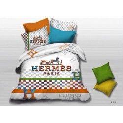 Hermes Paris Bettwäsche günstig billig gut preiswert King Size Baumwolle Bed Set 6 Teilig