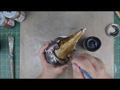 Ξύλινο κουτί με κοντούρ και δαντέλα! Wooden box with contour and lace! - YouTube