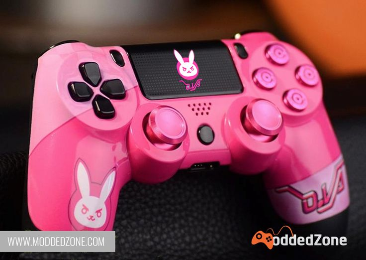 """Overwatch fans? Take a look at our unique """"d.Va"""" PS4 custom modded controller. Customize your own today! .::EXCLUSEVILY::. at www.ModdedZone.com #overwatch #moddedzone #moddedcontroller #customcontroller"""