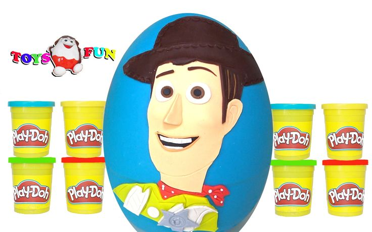 Oyuncak Hikayesi Woody Sürpriz Yumurta Play Doh - Toy Story Surprise Egg...