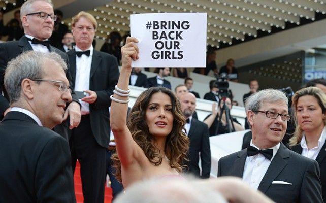 Salma Hayek pide en Cannes la liberación de las niñas nigerianas >>>