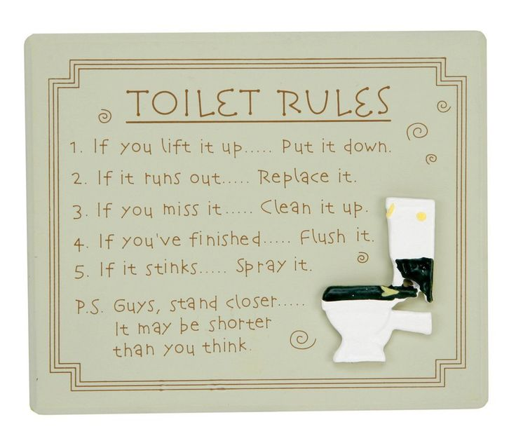 Quirky Toilet Rules Bathroom Wall Plaque By Haysom Interiors ** Startling review available here  : Home Decor Plaques