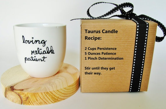 Zodiac Birthday Candle Taurus by 39Cups on Etsy