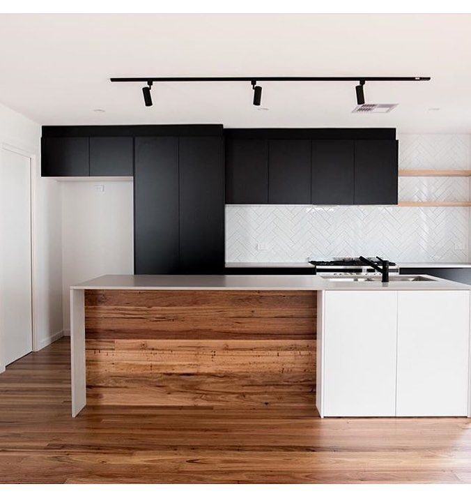 """143 Likes, 8 Comments - @ourhomeedit on Instagram: """"//INSPO: A perfect blend of materials from @bora_developments in this modern but warm kitchen  My…"""""""