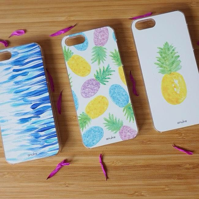 Phone and Samsung case, WaterProof, Rainbow Pineapples and Pina #anukedesign #iphonecase #samsungcase #pineapplephonecase