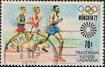 Postage Stamps Kenya Uganda Tanzania 1972 Olympic Games Fine Used SG 315 Scott 251 For Sale Take a look