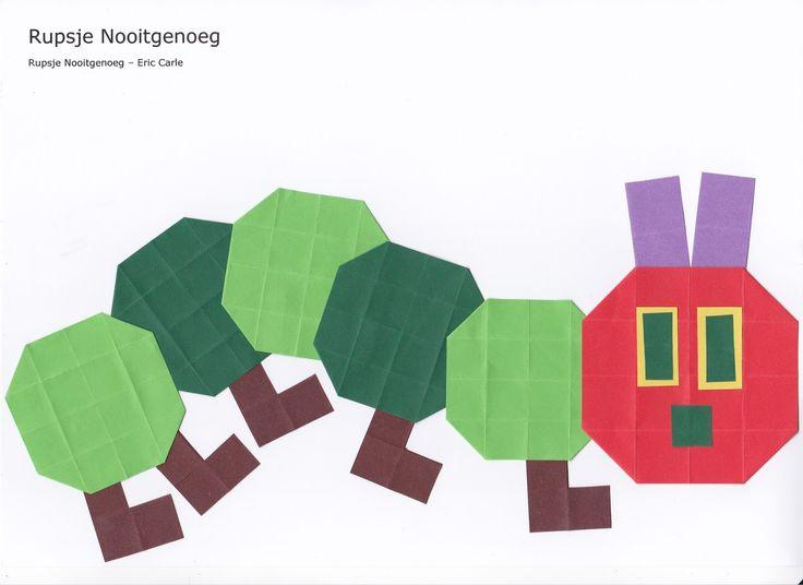 Rupsje Nooitgenoeg (16 vierkantjes)   Tijdens de eerste schoolweek maak ik altijd een verjaardagskalender met mijn groep. Dit jaar m...