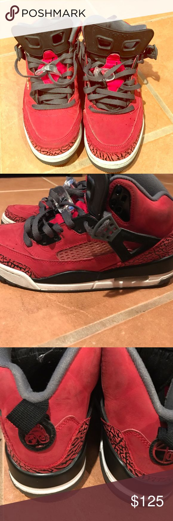 Jordan Spizike 'Bred' My babies. The day-to-day reds. Ok condition. Price definitely negotiable. Trade or paid. 6/10 Jordan Shoes Sneakers
