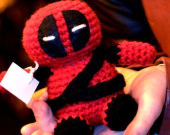 Handmade Deadpool Amigurumi