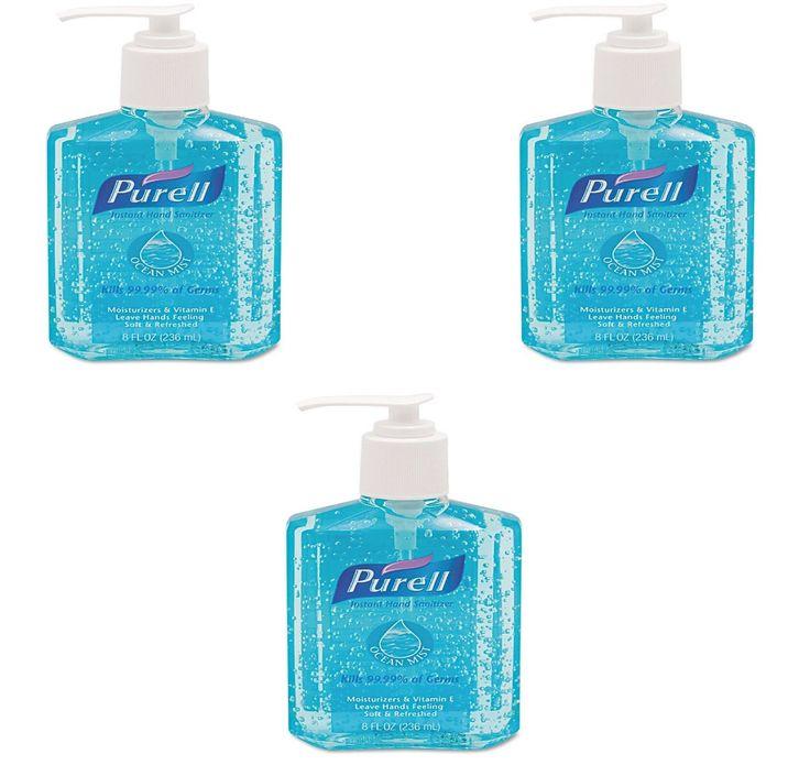 3 Pack Purell Ocean Mist Instant Hand Sanitizer 8 Fl Oz Kills 99