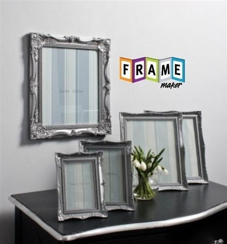 SET OF 5 BEAUTIFUL BAROQUE SILVER DECORATIVE ANTIQUE ORNATE PHOTO PICTURE FRAMES   eBay