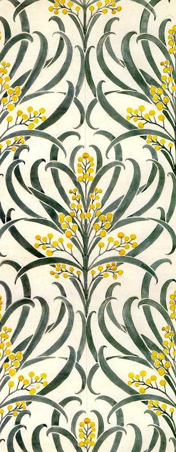 """coquidv: """" Callum wallpaper Voysey, 1896 """""""