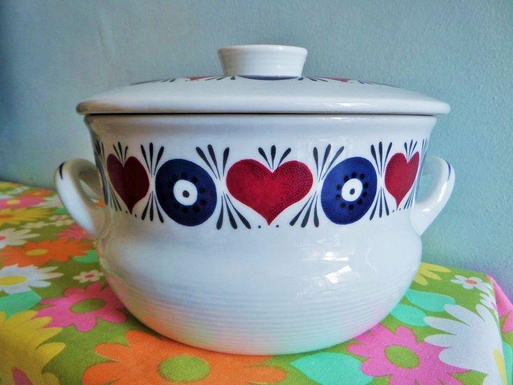 Vintage 50s 60s Scandinavian Marianne Westman Rorstrand Silja Ceramic Tureen
