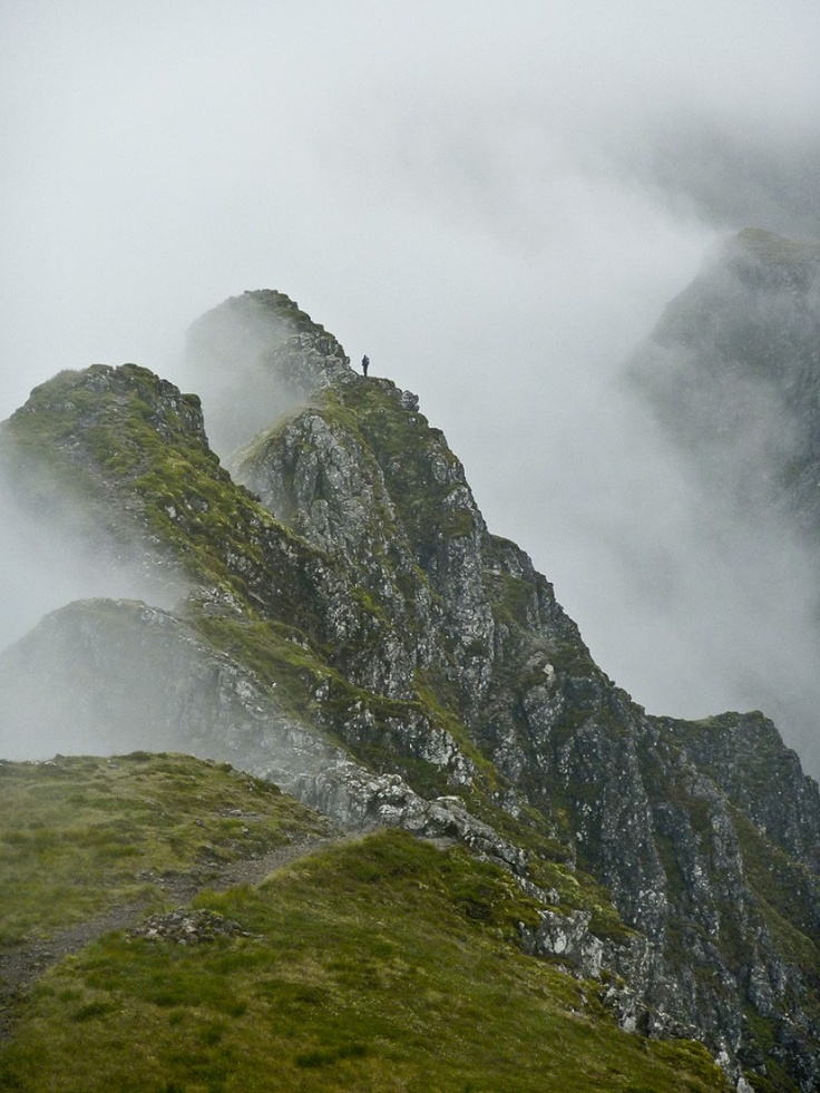 'Aonach Eagach' - Craig Usher   Lone hiker on the Aonach Eagach ridge in Glencoe