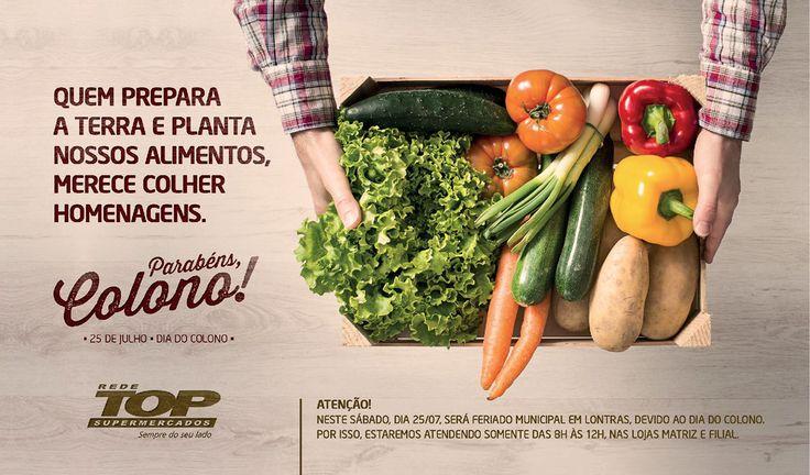 Rede Top Dia do Colono on Behance Alimentos, Supermercados