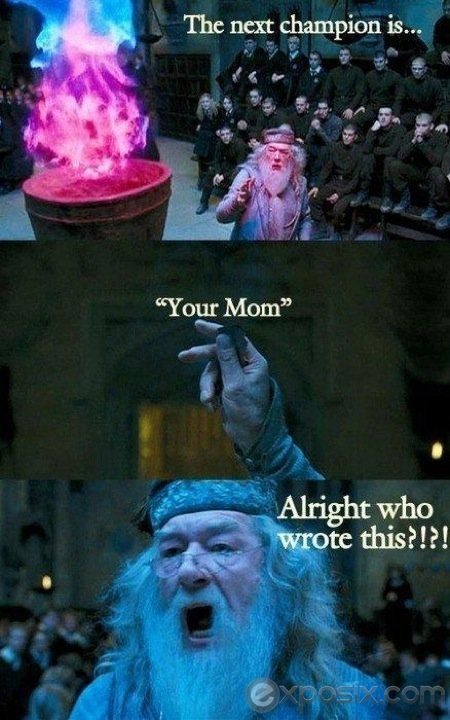 haha ur mom!!: Harry Potter Jokes, Harry Potter Memes, Harry Potter Funny, Goblet Of Fire, Mom Jokes, Harry Potter Humor, Weasley Twin, Yo Momma, Funny Harry Potter