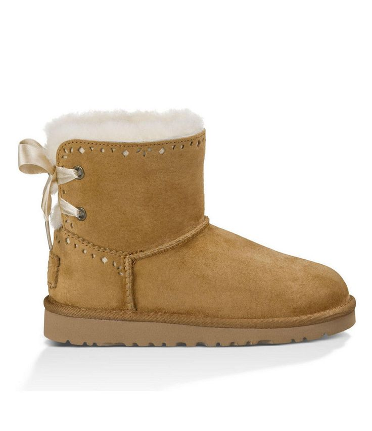 Ugg: Kid's Dixi Flora Perf Boot (Chestnut) The Dixi Flora Perforated Boot in