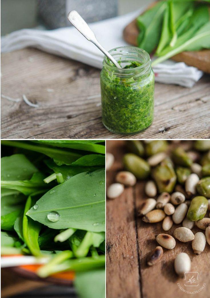 Przepis na czosnek niedźwiedzi - zielone pesto z pistacjami. - Klaudyna Hebda