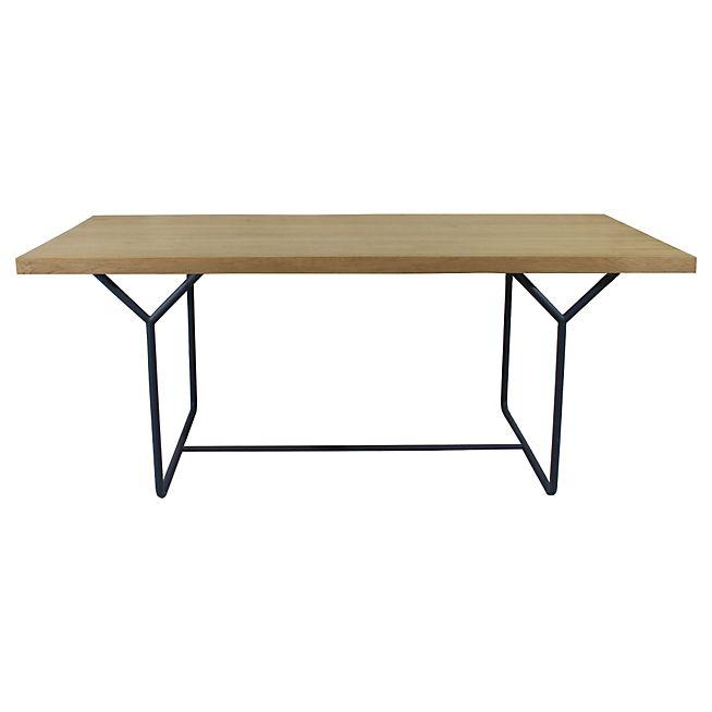 Epsylon Table de repas en acier et placage chêne L190cm - 8 convives 400€