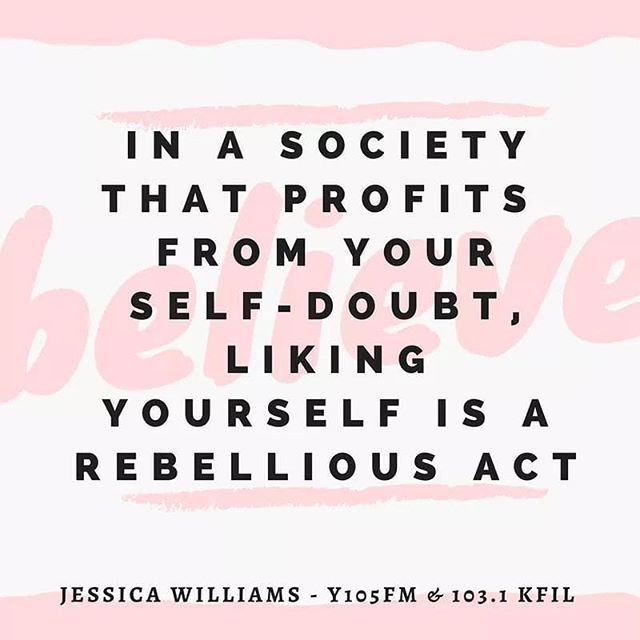 Reposting @mominmn: With the resolutions come the self-doubt.  Set your goals on believing in who you already are...not what size you might be (or think you need to be). - Jessica Williams - Y105FM and 103.1 KFIL  #believe #selfworth #truth #goals #newyearsresolutions #health #radio #rochmn #rochestermom