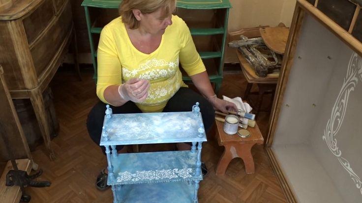 Patynowanie, postarzanie farbami kredowymi i woskami Vittorino