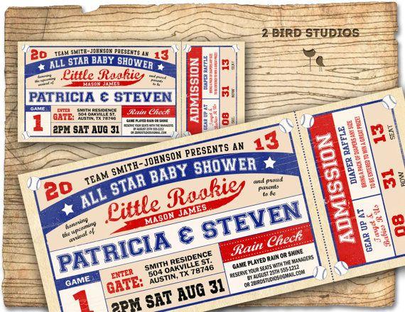 Baseball baby shower invitation  baseball baby by 2birdstudios, $20.00