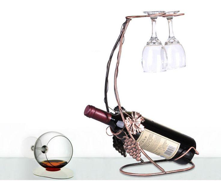 Wine + Glass Holder - Copper
