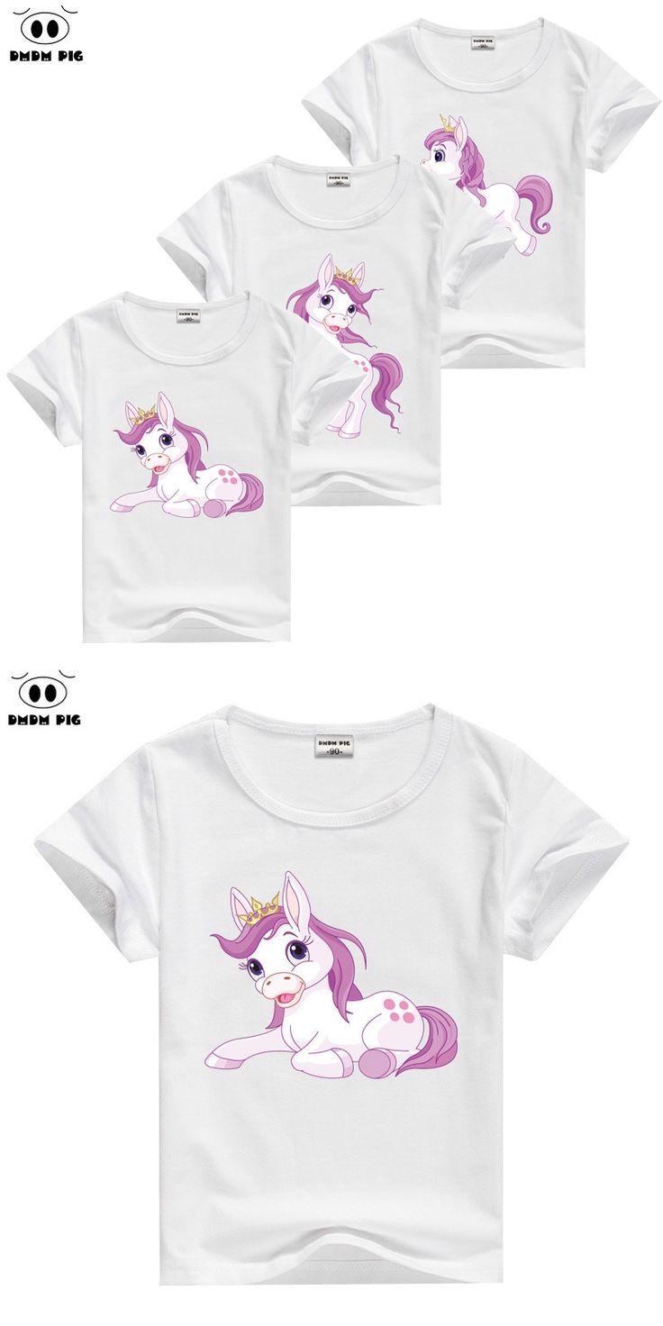 DMDM PIG Girl T-Shirt kids T Shirt Baby Boy Girl Clothes Children's T-Shirts For Boys Girls Tops Child T Shirts Kids Clothes Boy