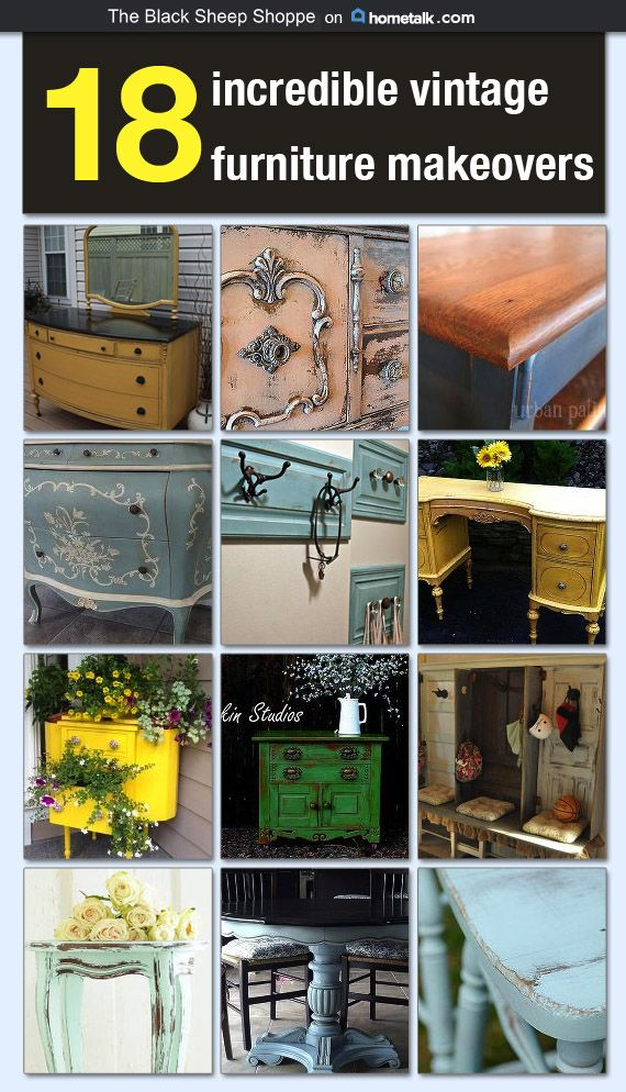 18 Incredible Vintage Furniture Makeovers