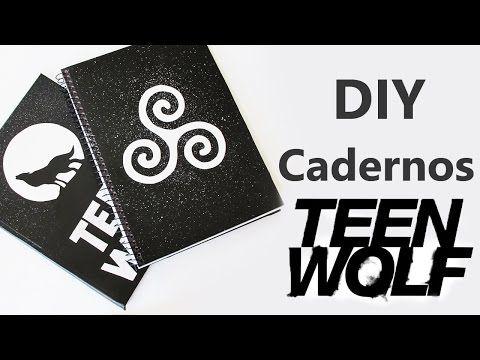 DIY: Cadernos Personalizados TEEN WOLF - YouTube