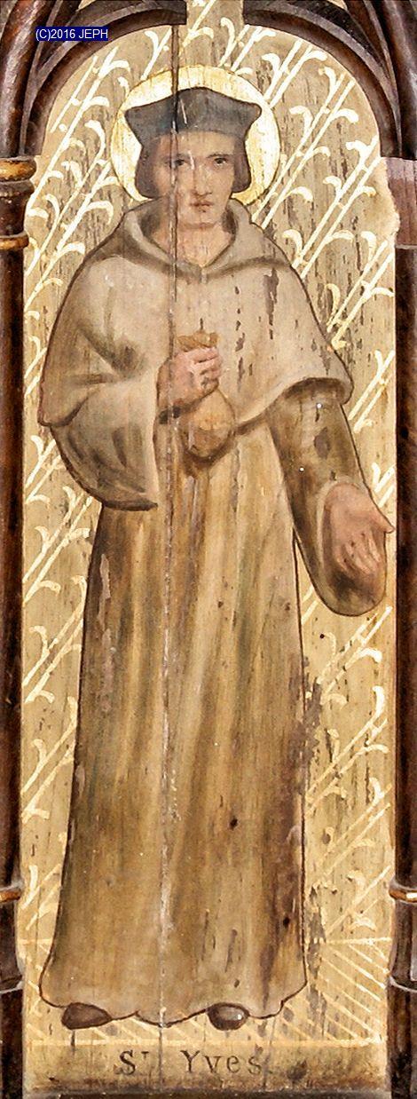 St Yves, panneau bois, église de Trégonneau (22)