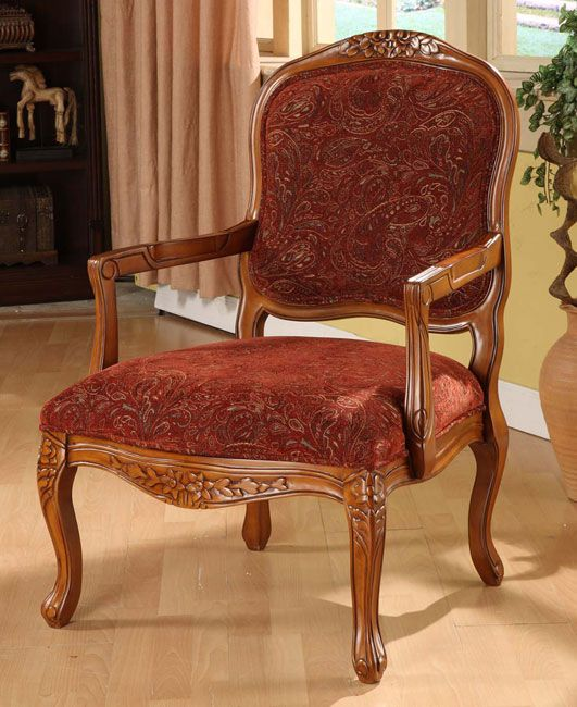 Curved Arm Paisley Wine Chair By I Love Living