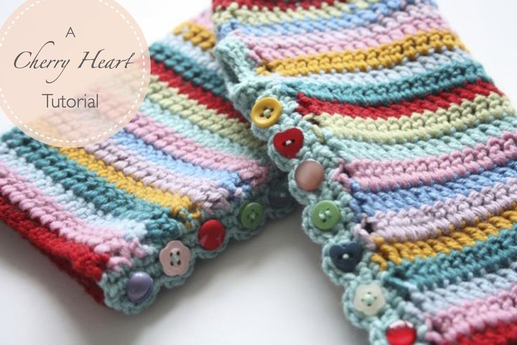 A Tutorial for some lovely, stripy, colourful, crocheted mitts to keep you cozy and warm.
