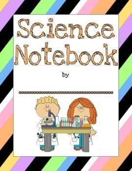 Science Notebook Cover Sheet- Freebie!