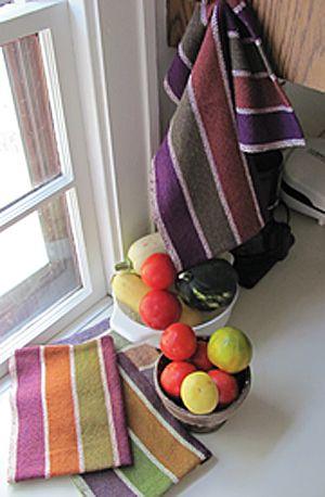Eggplant, Carrots, and Avocados - towel kit.