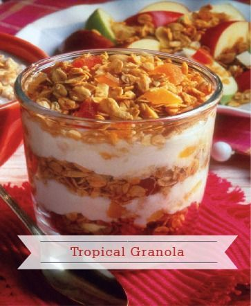 With creamy and crunchy textures, this Tropical Granola recipe makes a ...