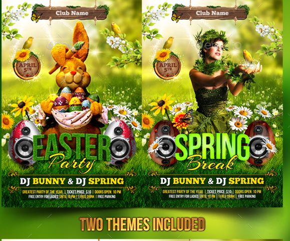 Best  Beautiful Easter Flyer Template Images On